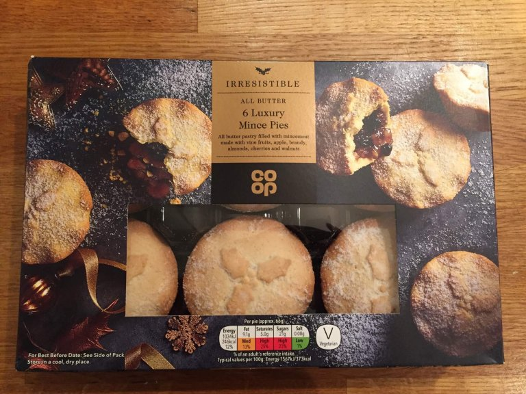 Co-op Irresistible All Butter Luxury Mince Pie Review