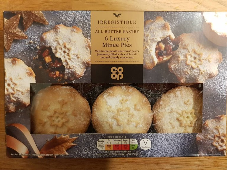 Co-op All Butter Pastry Luxury Mince Pies Review 2018