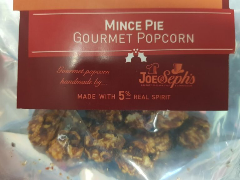 Joe&Sephs Gourmet Mince Pie Popcorn Review 2018