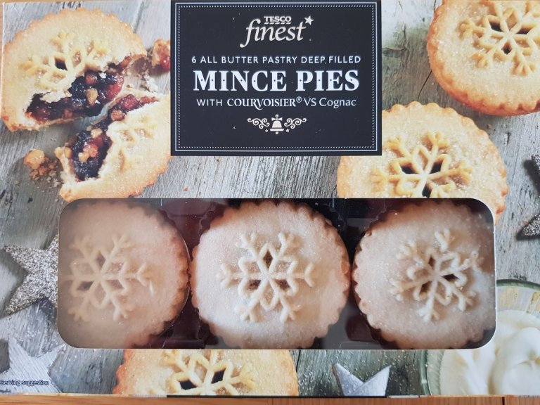 Tesco Finest Deep Filled Mince Pie with Courvoisier Cognac