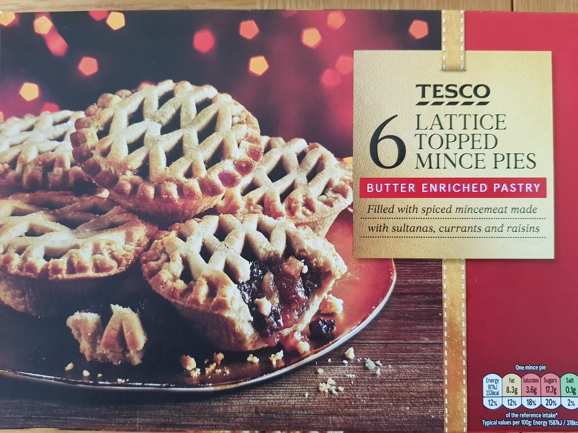 Tesco Lattice Topped Mince Pie Review 2018