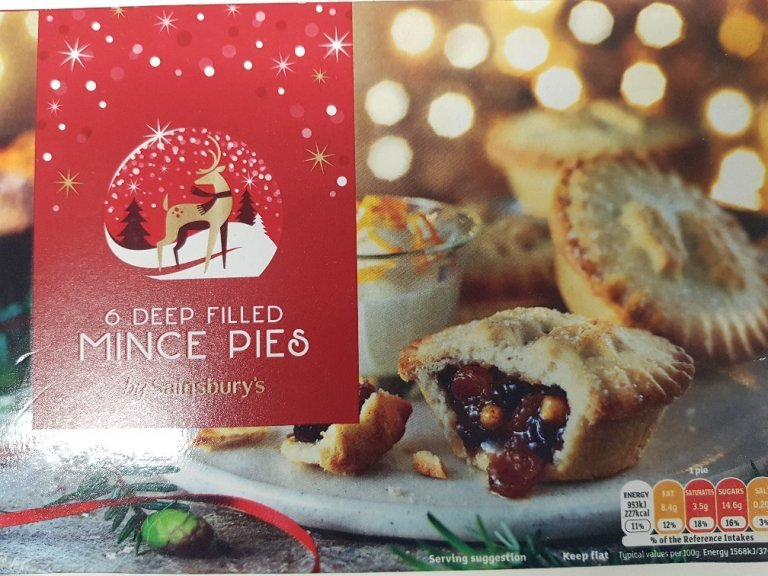 Sainsbury's Deep Filled Mince Pie Review 2018