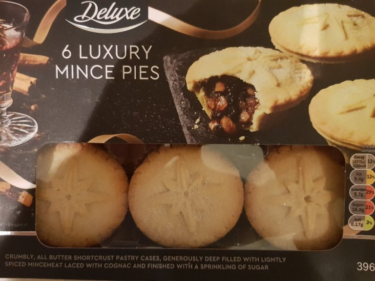 Lidl Deluxe Luxury Mince Pie Review 2018