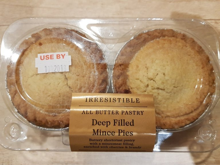 Co-op Irresistible All Butter Pastry Deep Filled Mince Pie Review 2018