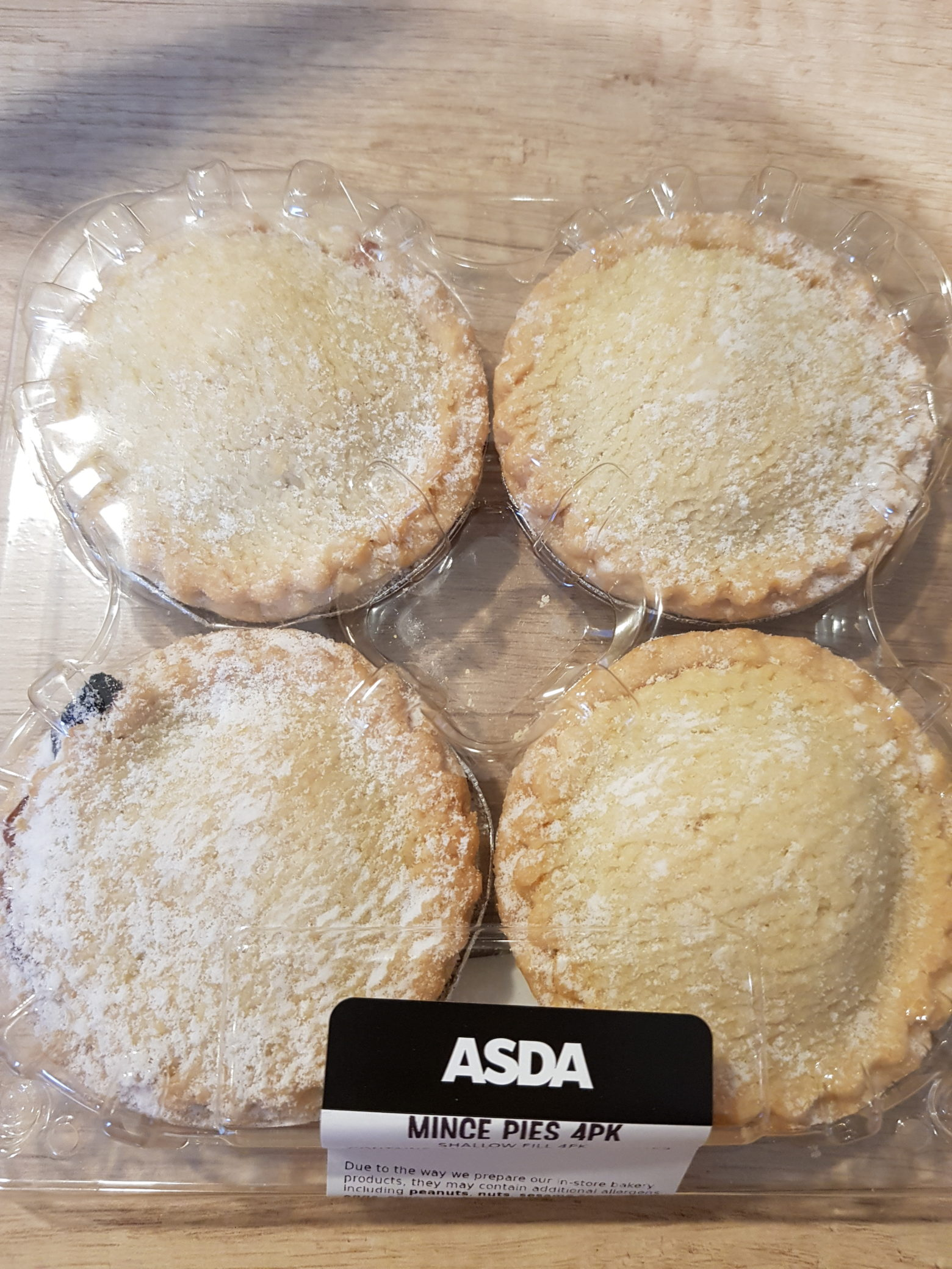 ASDA Shallow Fill Bakery Mince Pie Review 2019