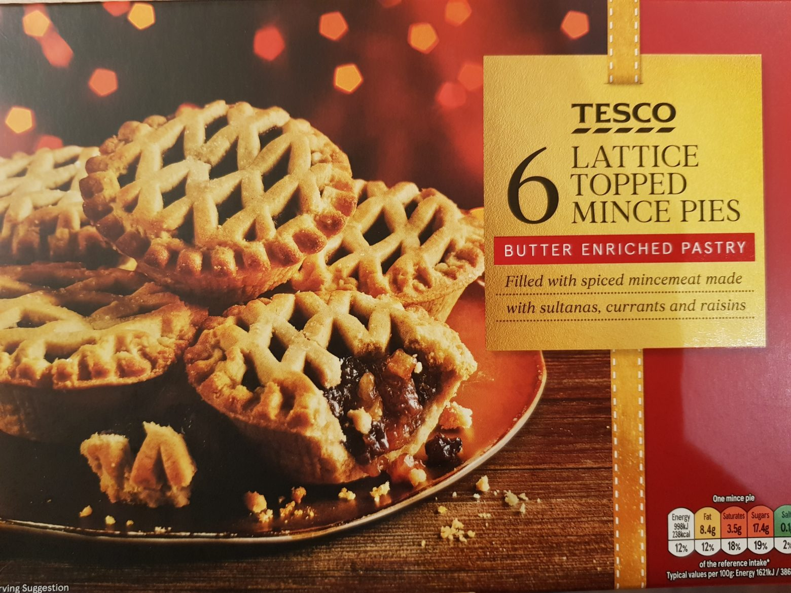 Tesco Lattice Topped Mince Pie Review 2019