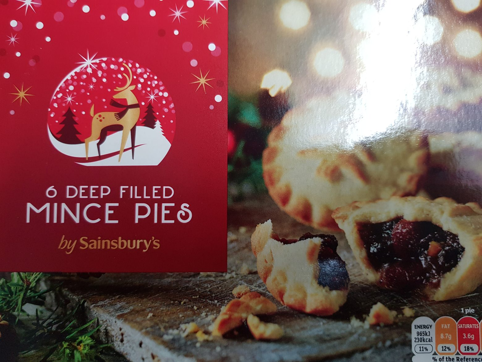 Sainsbury's Deep Filled Mince Pie Review 2019