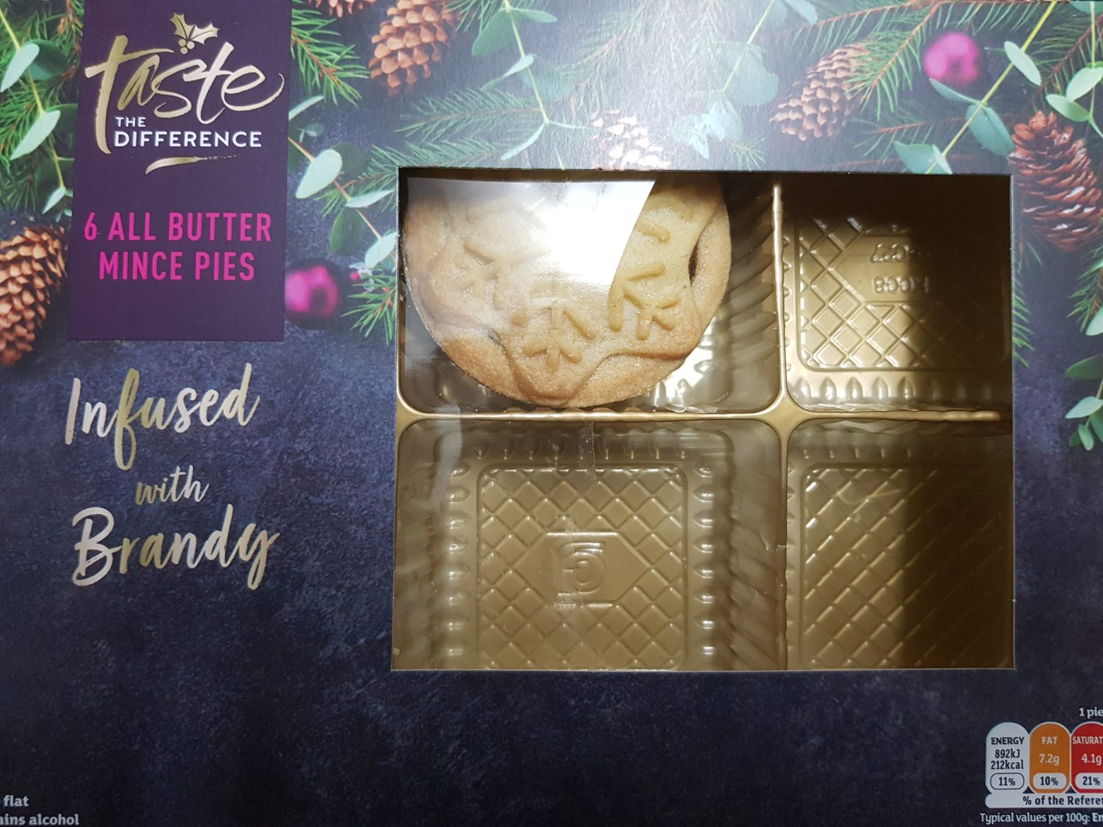 Sainsbury's Taste The Difference All Butter Mince Pie Review 2019