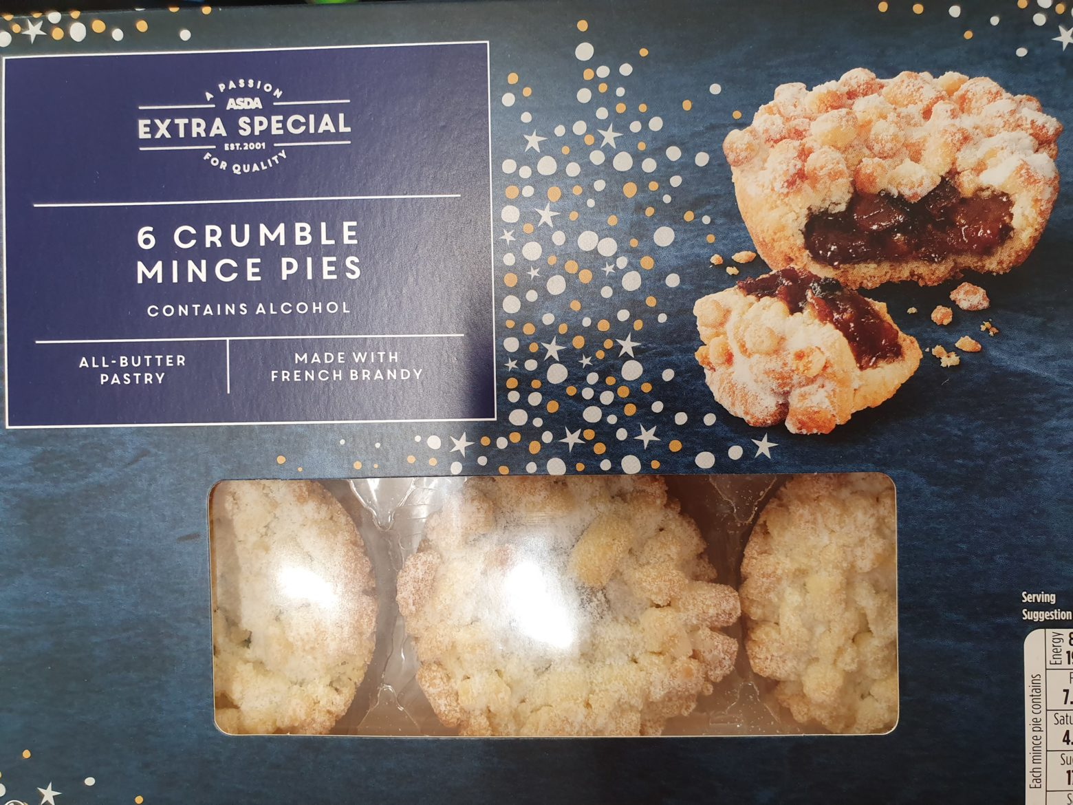 ASDA Extra Special Crumble Mince Pie Review 2019