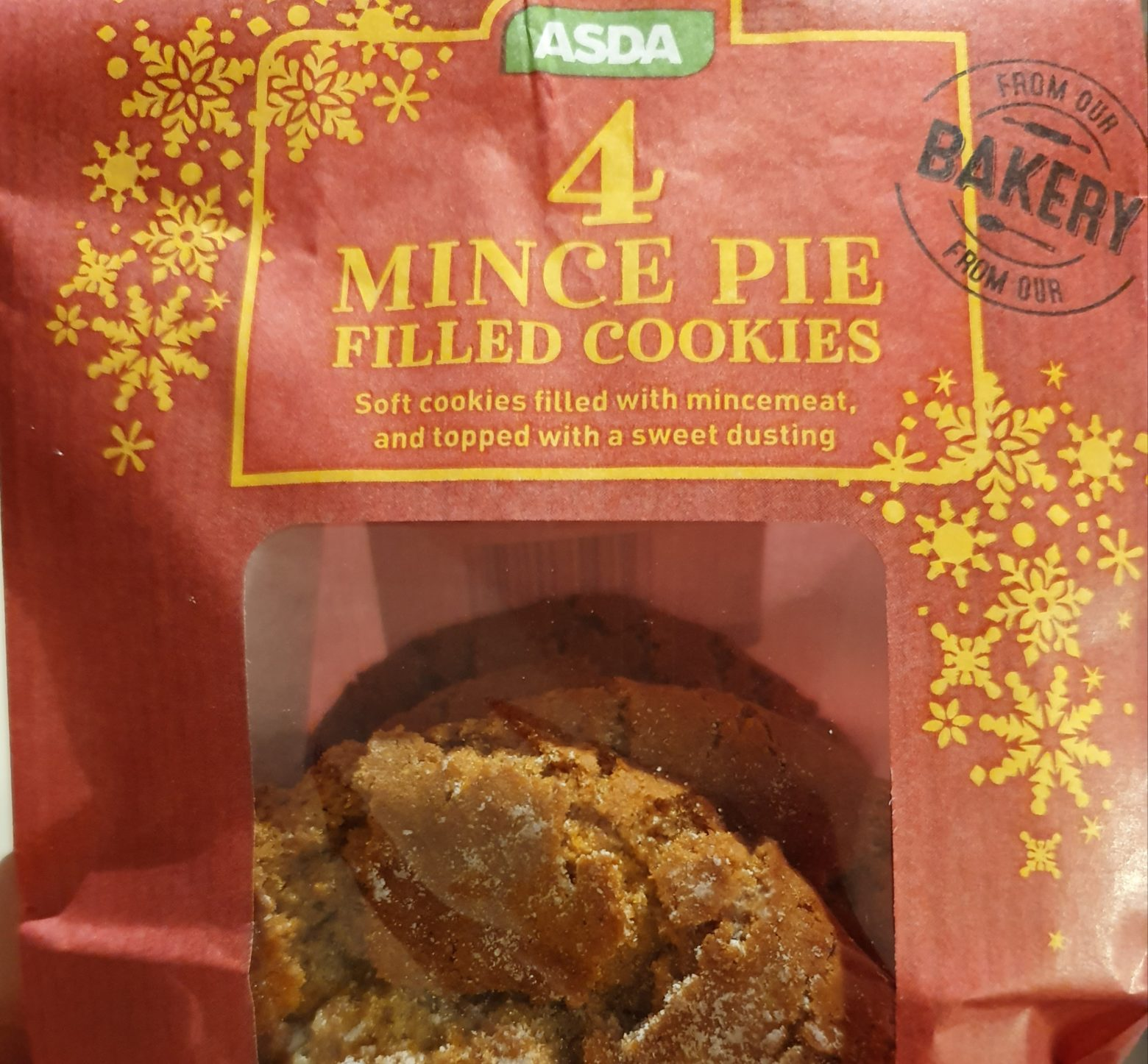ASDA Mince Pie Filled Cookie Review 2019