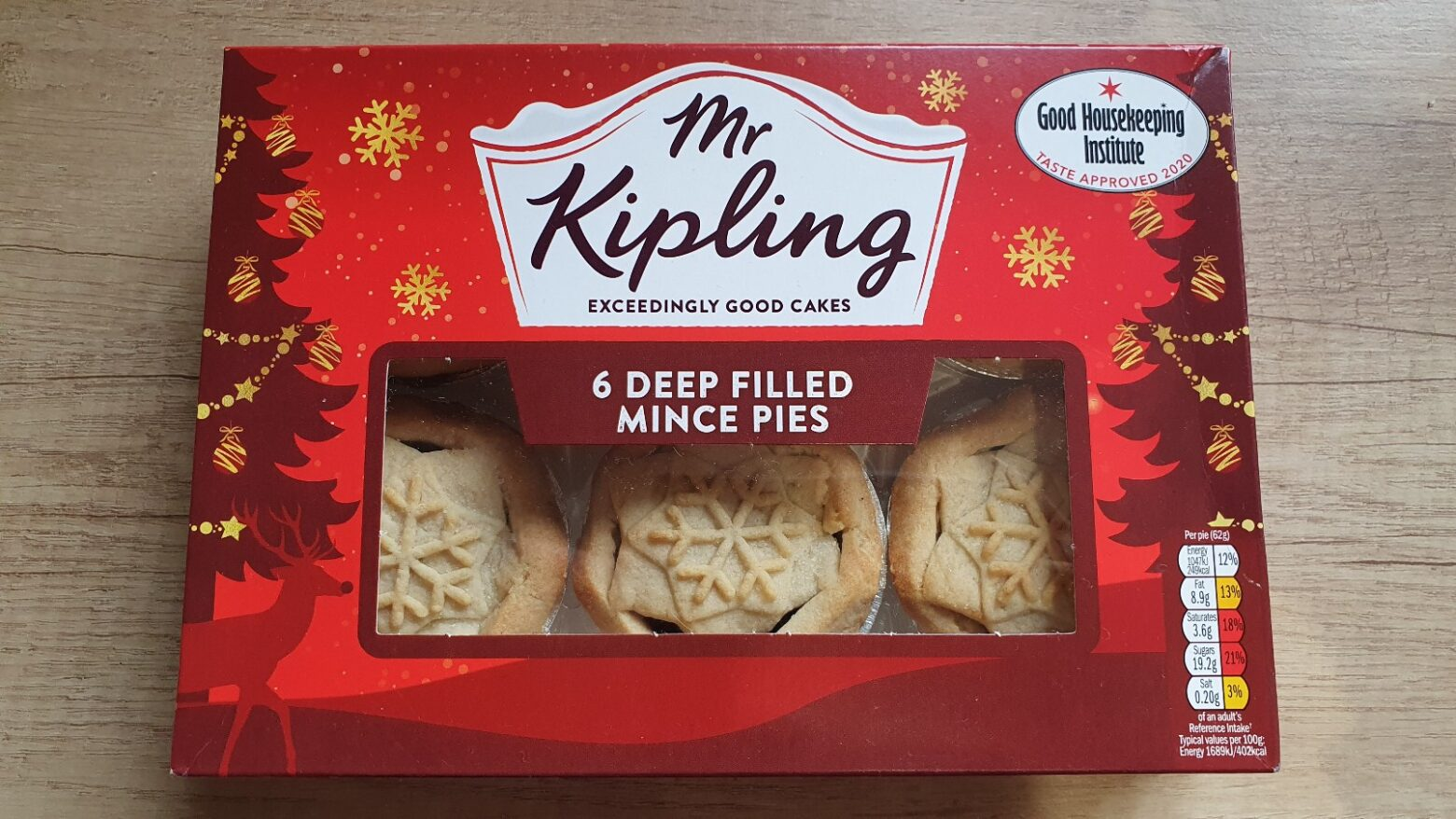 Mr Kipling Deep Filled Mince Pie Review 2020