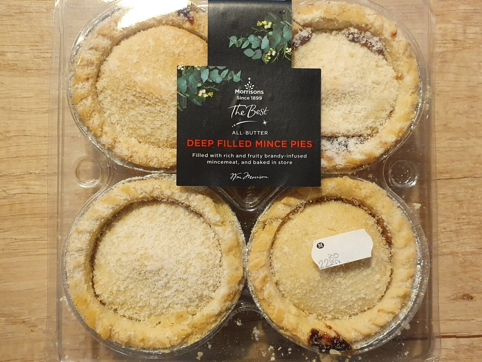 Morrisons 'The Best' Deep Filled All Butter Mince Pie Review 2020