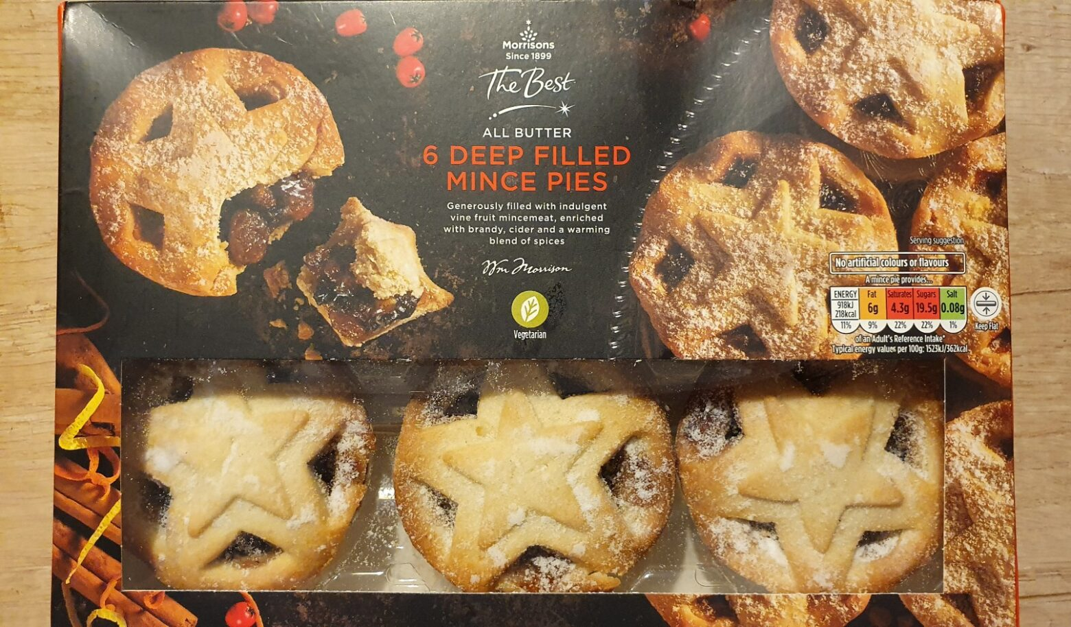 Morrisons 'The Best' All Butter Deep Filled Mince Pie Review 2020